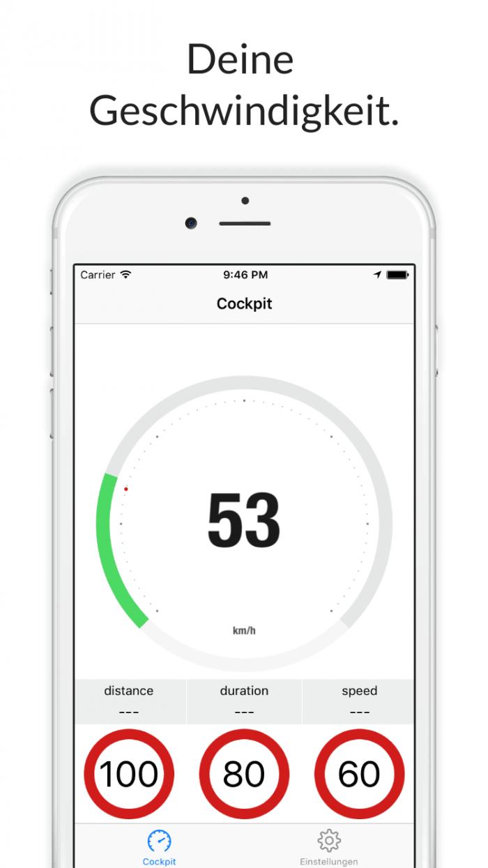 Speed Control für iPhone - deine Geschwindigkeit.